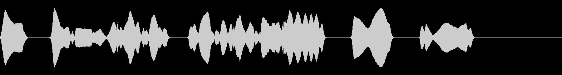 ヘタウマリコーダーのみのジングルの未再生の波形