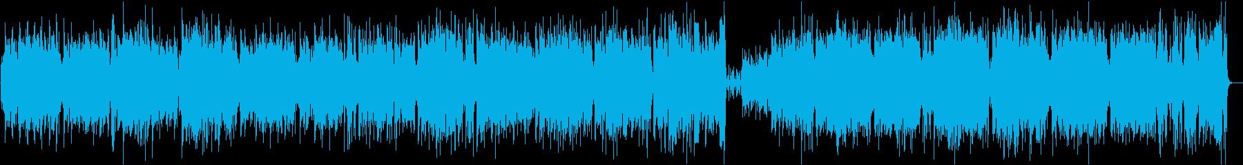 アコーディオン主体のおしゃれなワルツの再生済みの波形
