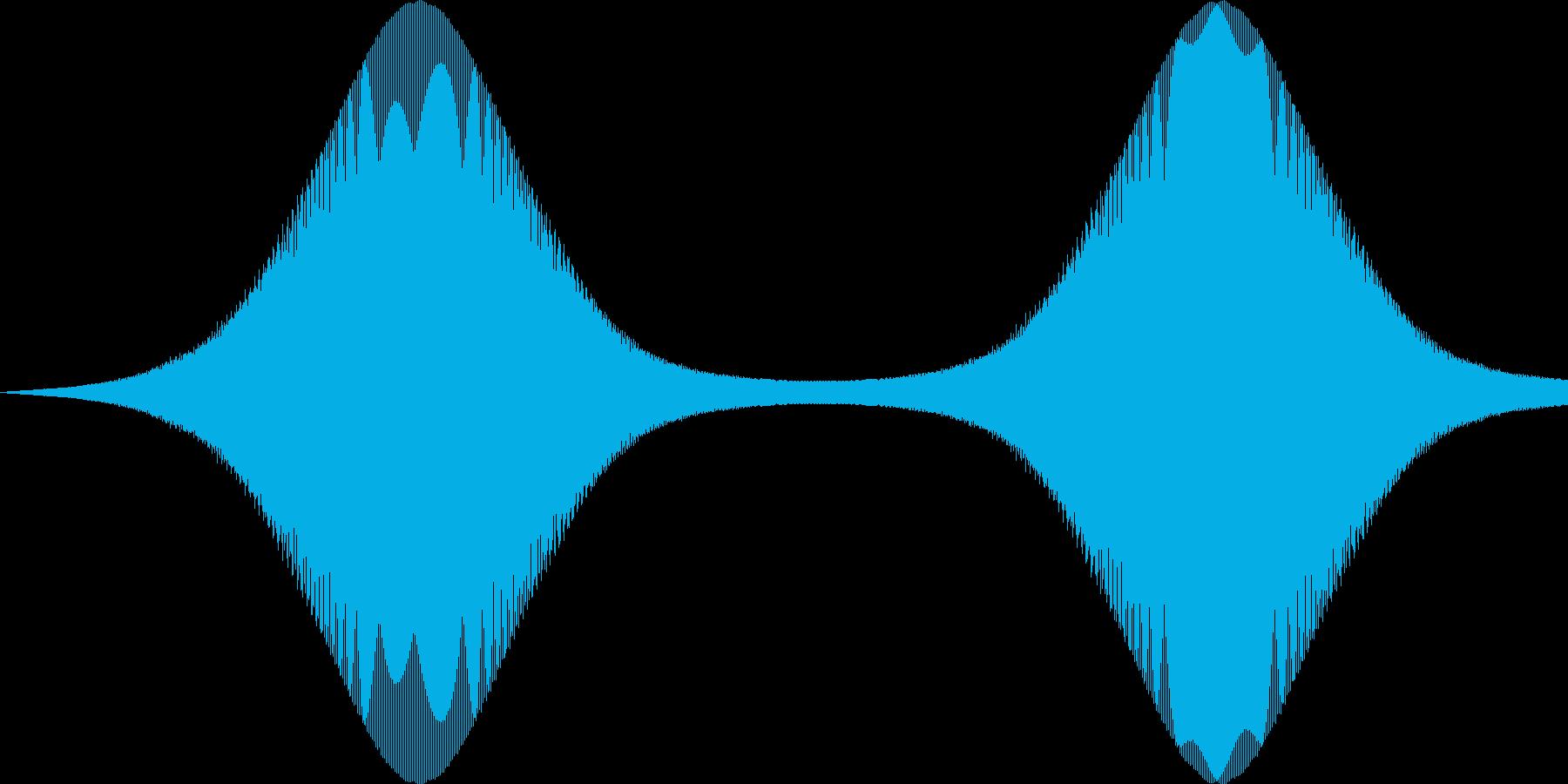 ピョイピョイ(感情:怒る)の再生済みの波形