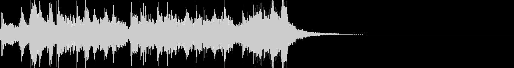 生演奏リコーダーとタンバリンのジングルの未再生の波形