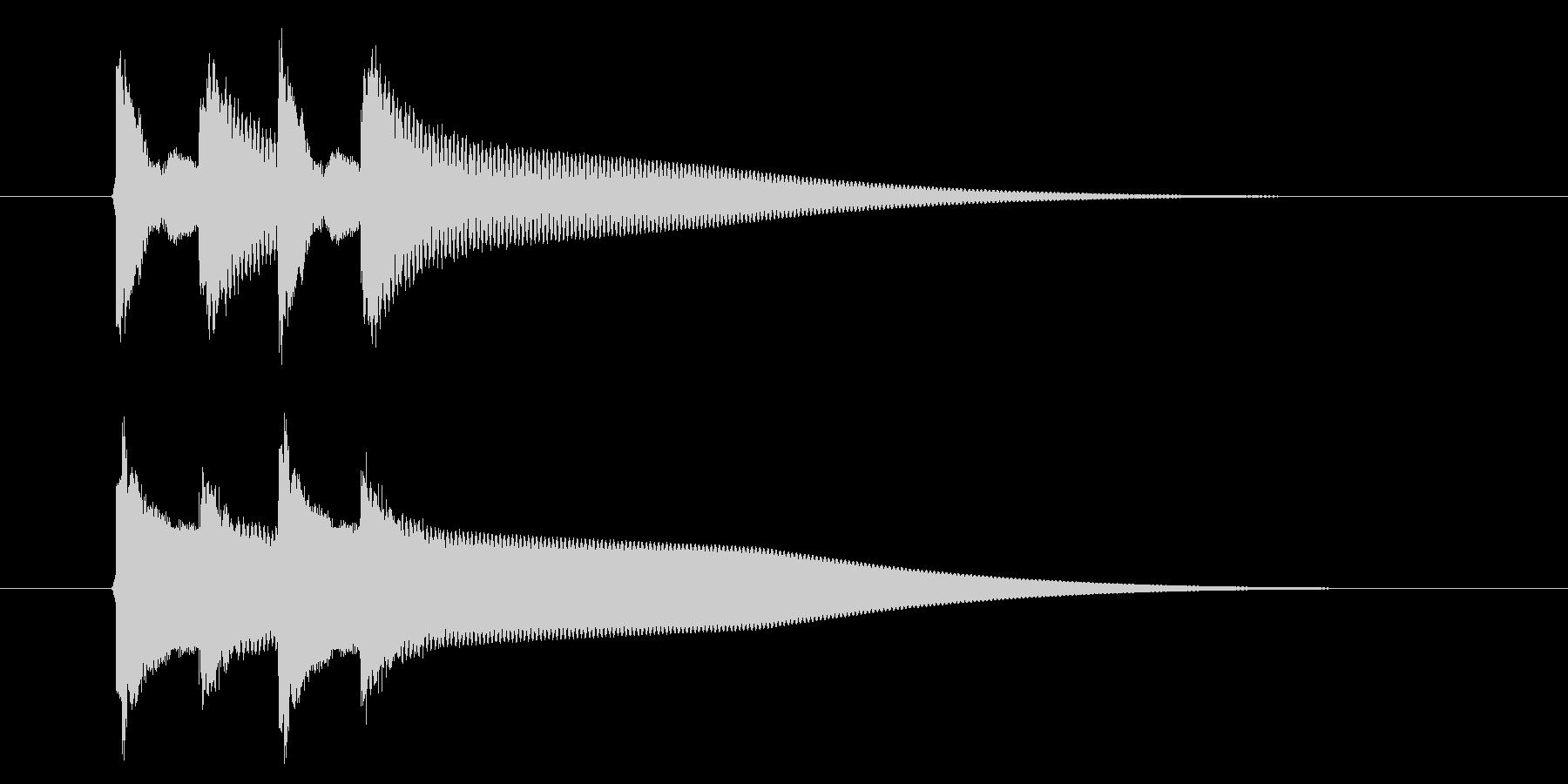【生録音】ピンポンピンポン(速度-早め)の未再生の波形