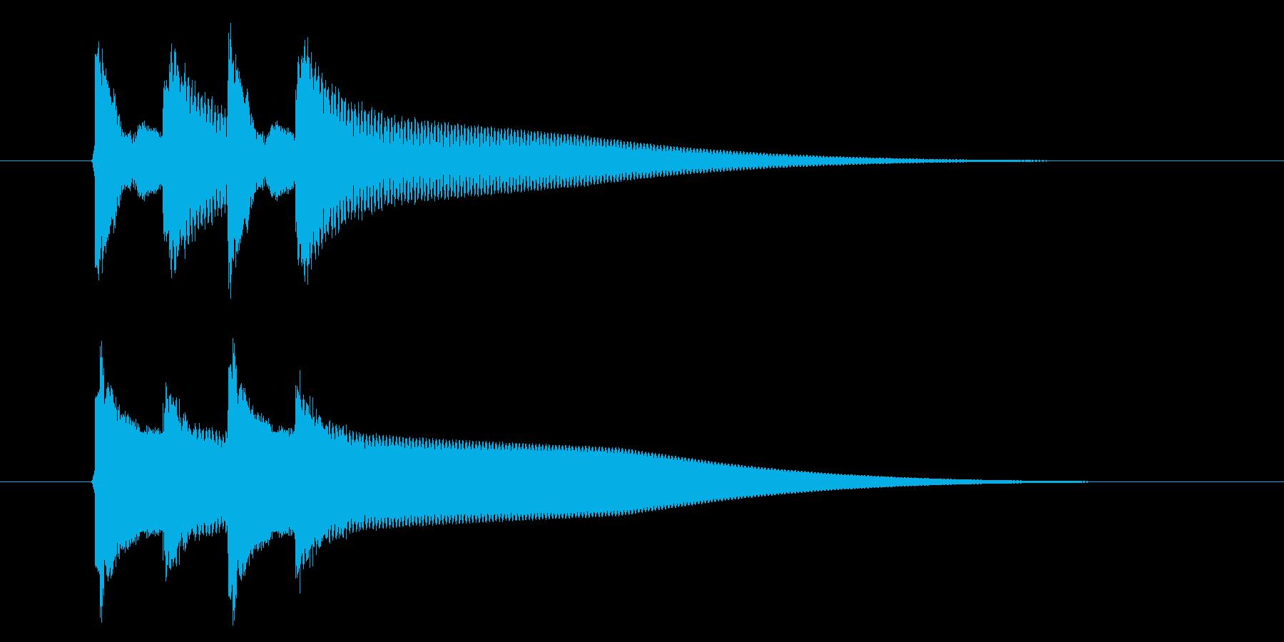 【生録音】ピンポンピンポン(速度-早め)の再生済みの波形