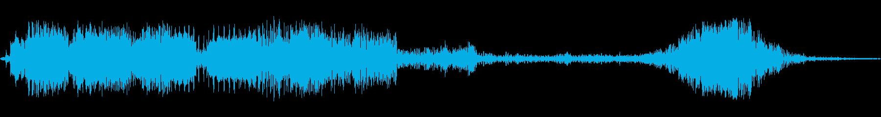 振動スワイプ2の再生済みの波形