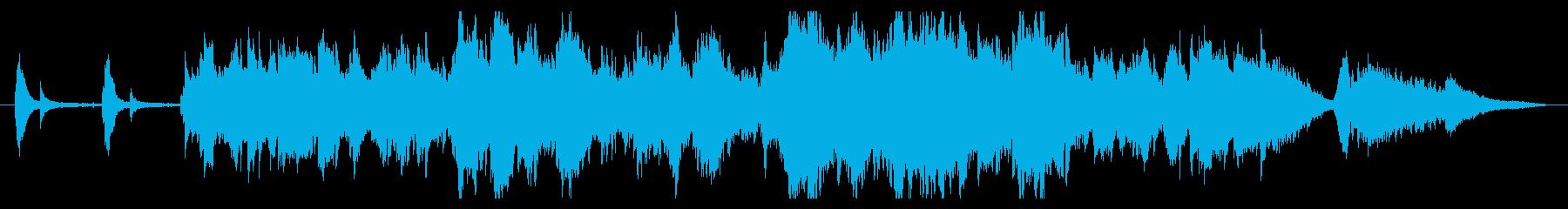 穏やかで優しくて感動的なチェロ曲の再生済みの波形