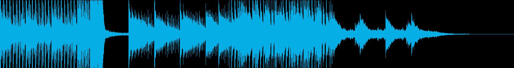 配信のエンディングなどに最適なEDMの再生済みの波形