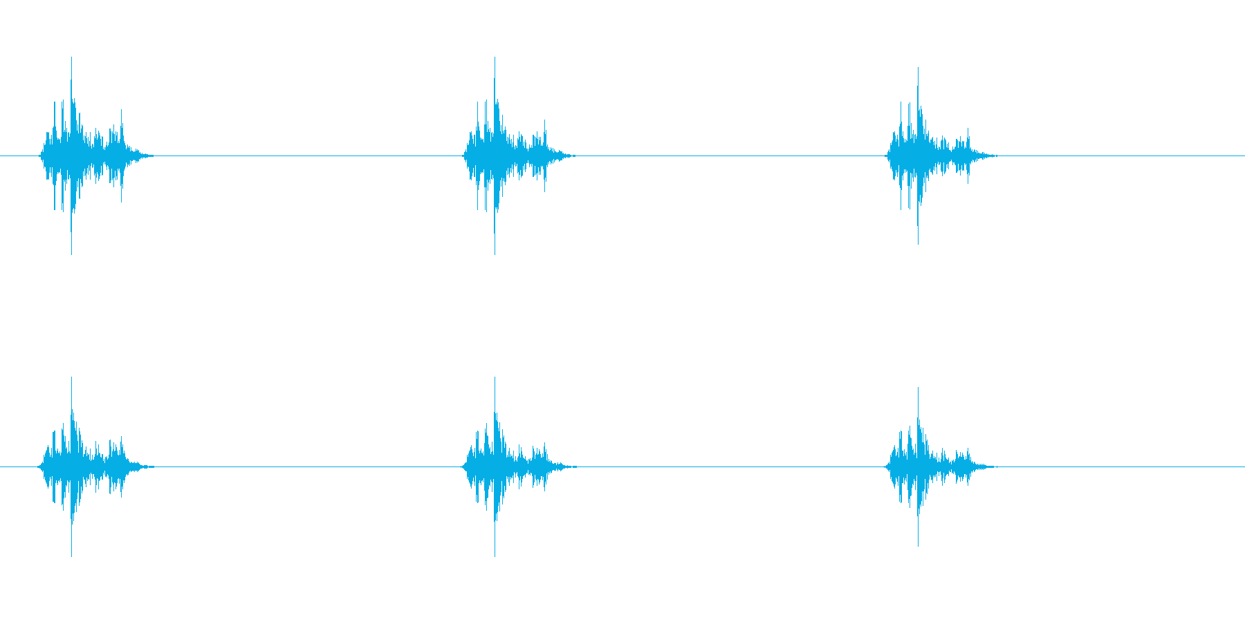 戦闘機シグナル_アナログ_カシャの再生済みの波形
