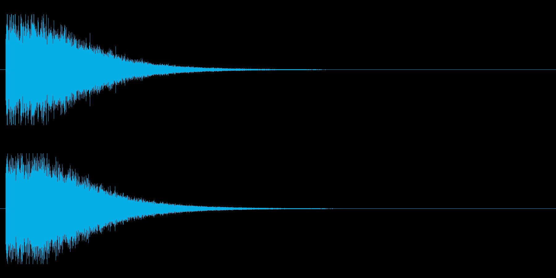 レーザー音-148-2の再生済みの波形
