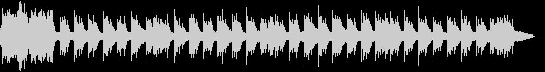 なつかしくおだやかな外国の民謡のカラオケの未再生の波形