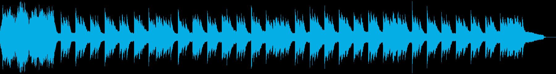 なつかしくおだやかな外国の民謡のカラオケの再生済みの波形