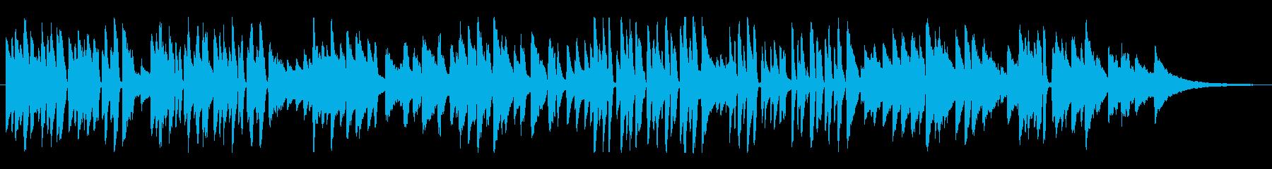 軽快で明るめのジャズ風ラウンジピアノソロの再生済みの波形