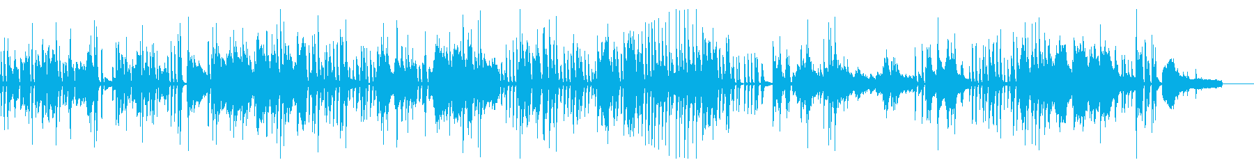 Jazzyで軽快なピアノソロの再生済みの波形