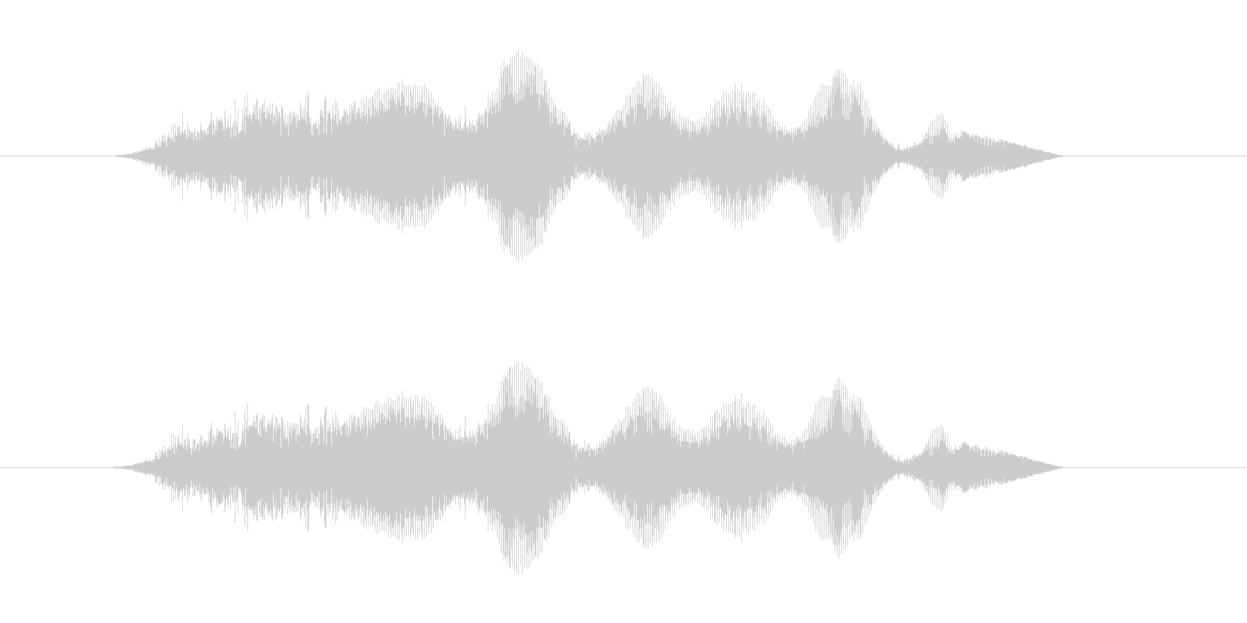へへへへ(笑い声)の未再生の波形