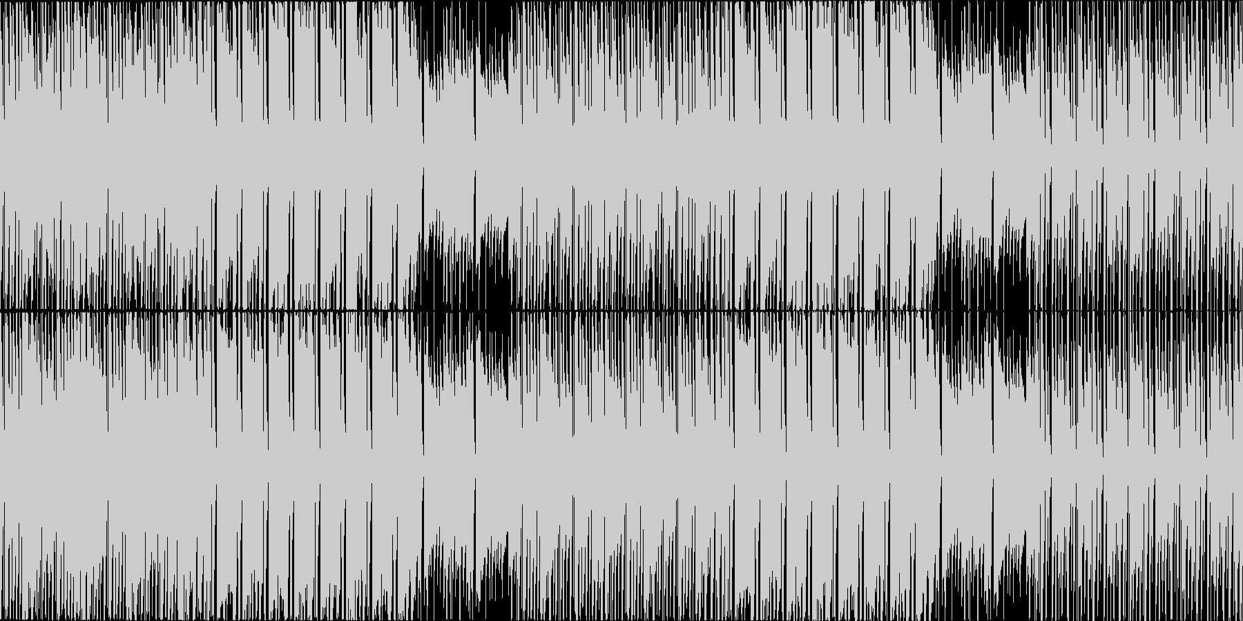気だるい雰囲気のヒップホップループの未再生の波形