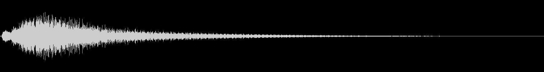 優雅な和風サウンド琴の下降フレーズ+FXの未再生の波形