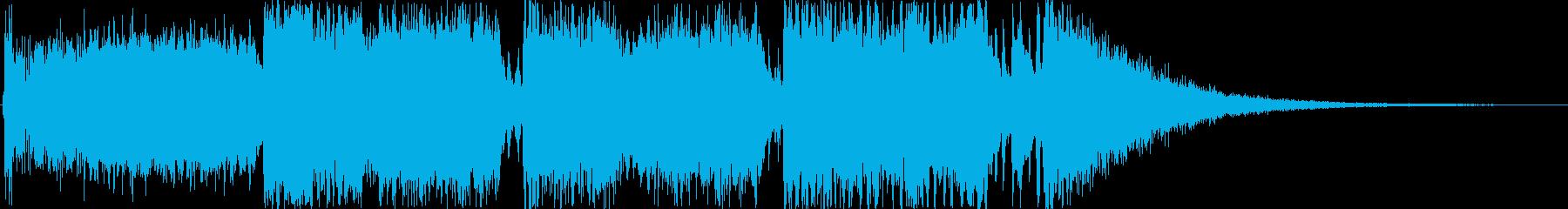 クイズのオープニング曲をイメージした作品の再生済みの波形