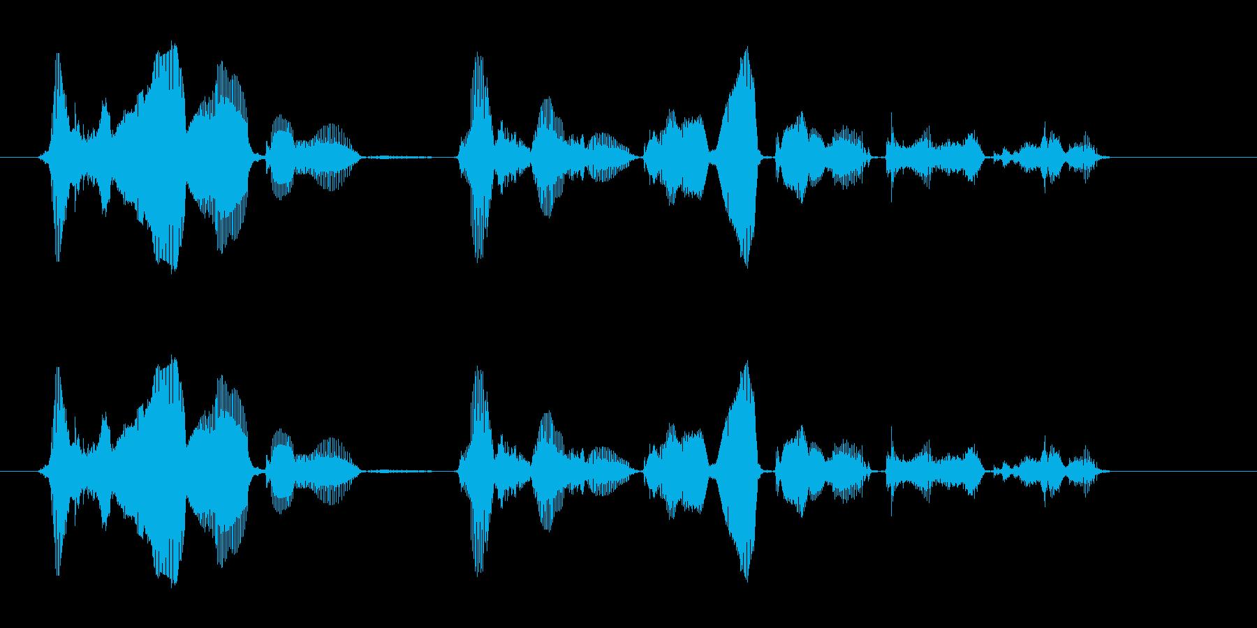 発信音のあとに、メッセージを10秒間で…の再生済みの波形