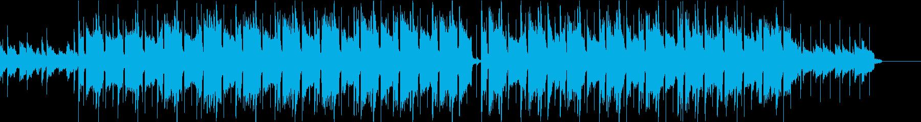メロディーがかっこいい動画用BGMの再生済みの波形