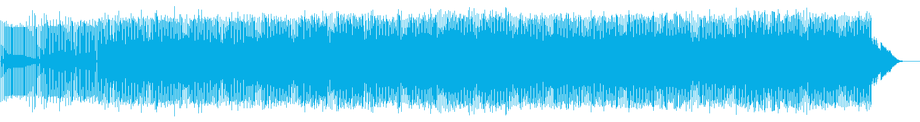 軽快で電脳的なアシッドテクノの再生済みの波形