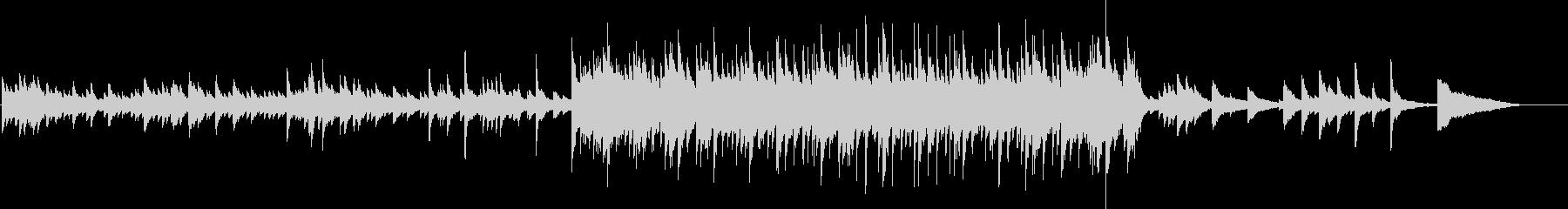 悲しい雰囲気のピアノバラードの未再生の波形