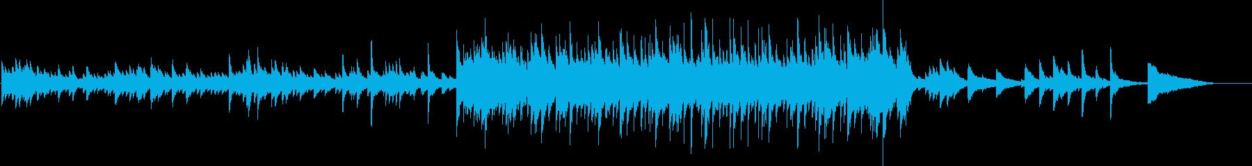 悲しい雰囲気のピアノバラードの再生済みの波形
