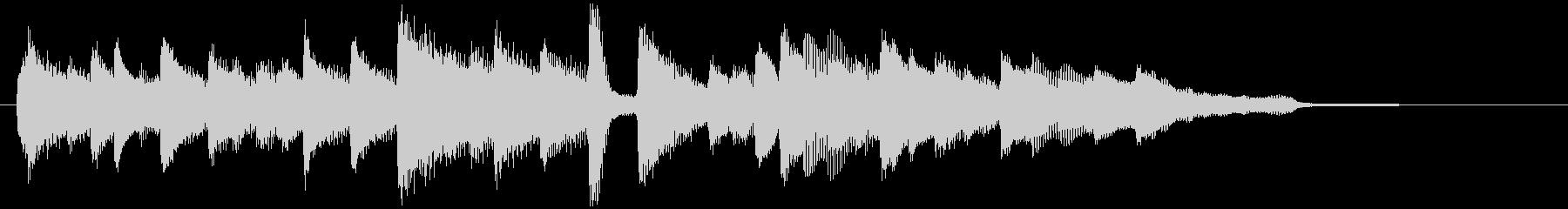 落ち着きのあるピアノバラードの未再生の波形