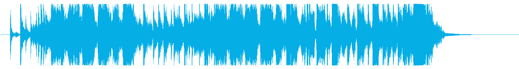 【生演奏】疾走感のあるファンクロック の再生済みの波形