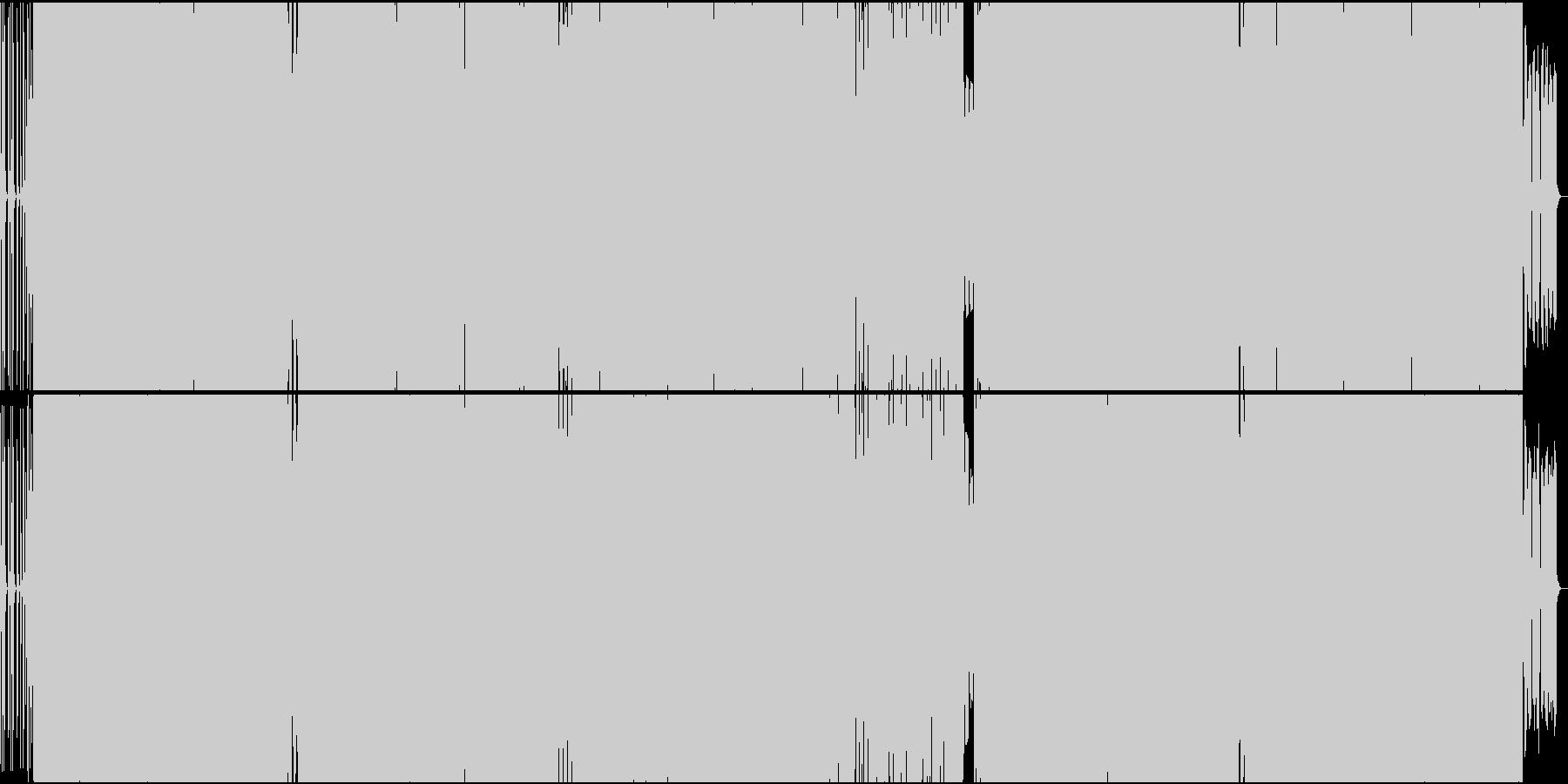 明るいEDM テクノ ポップ ダンス曲の未再生の波形