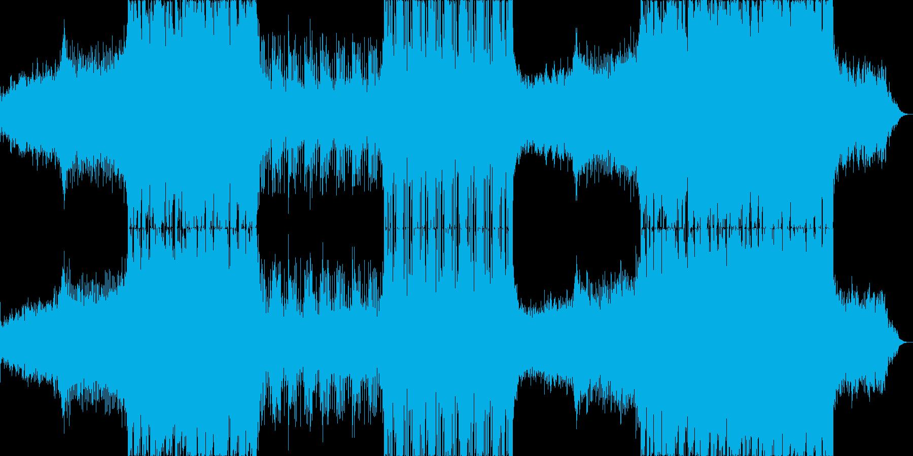 遊びのある爽やかなフューチャーエレクトロの再生済みの波形