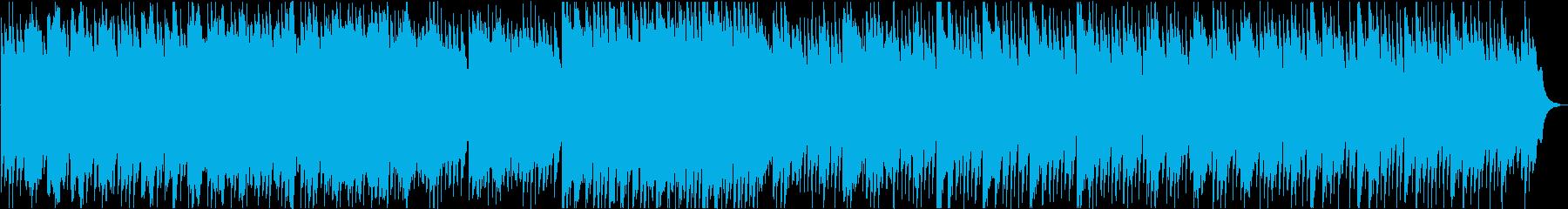 優しいハープのヒーリング曲の再生済みの波形