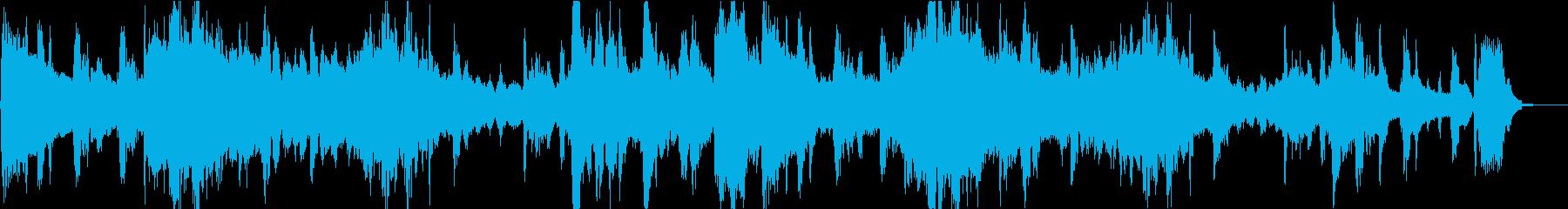 暖かい雰囲気な23秒の楽曲の再生済みの波形