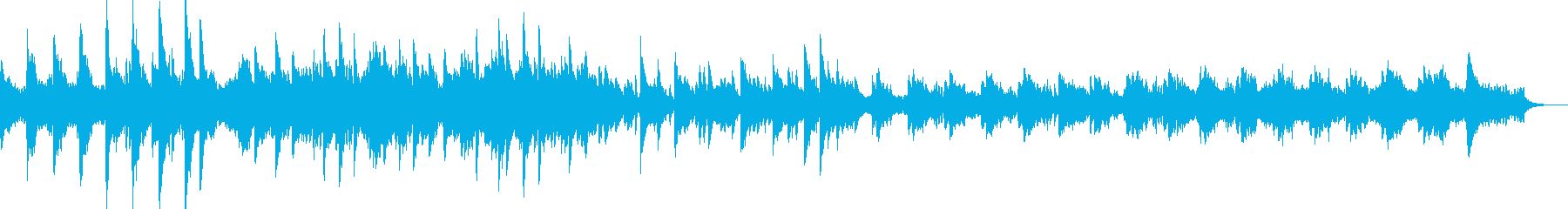 陰鬱とした雰囲気のBGMの再生済みの波形