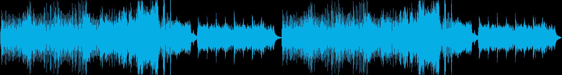 わくわく、楽しい、幻想的で明るい楽曲の再生済みの波形