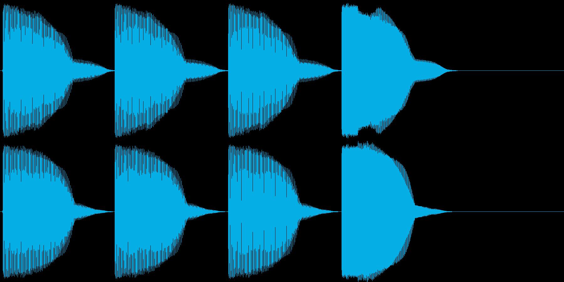 昔懐かしいゲーム的なスタート音の再生済みの波形