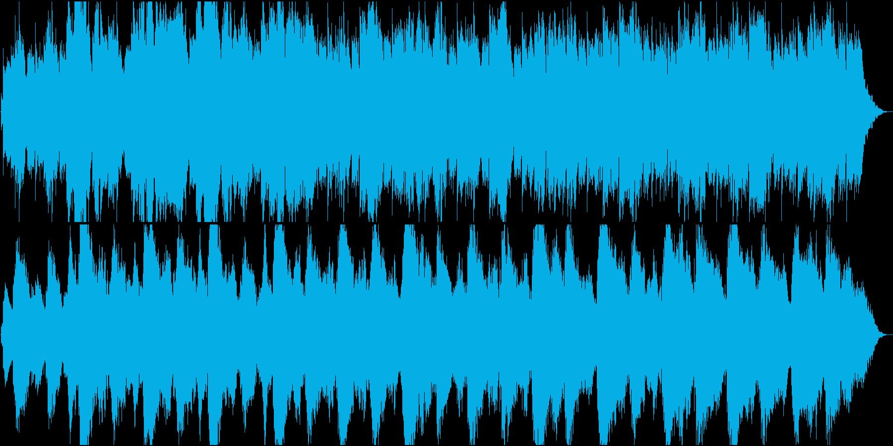 寂しい雰囲気の尺八の静かな曲の再生済みの波形