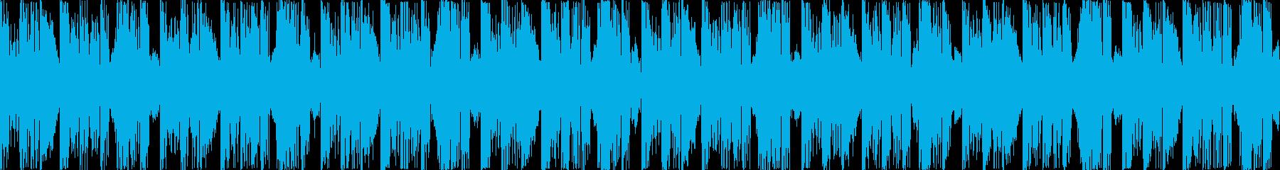 エレクトロニカなBGMの再生済みの波形