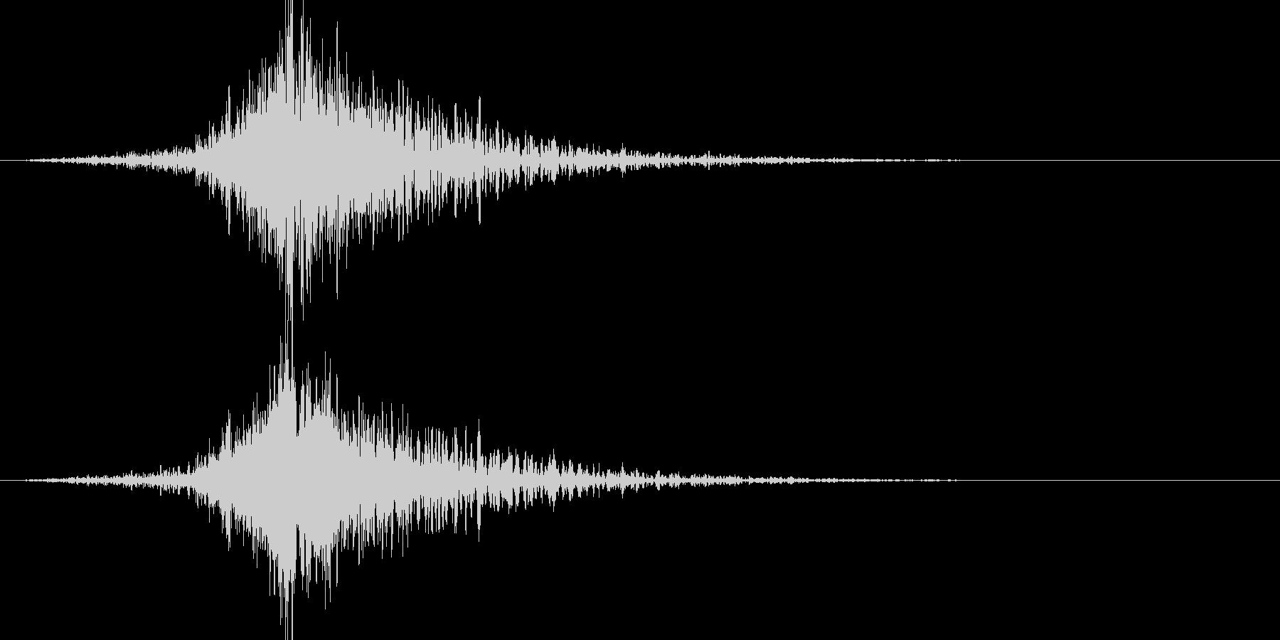 バーン:オープニングロゴなどの締めの音2の未再生の波形