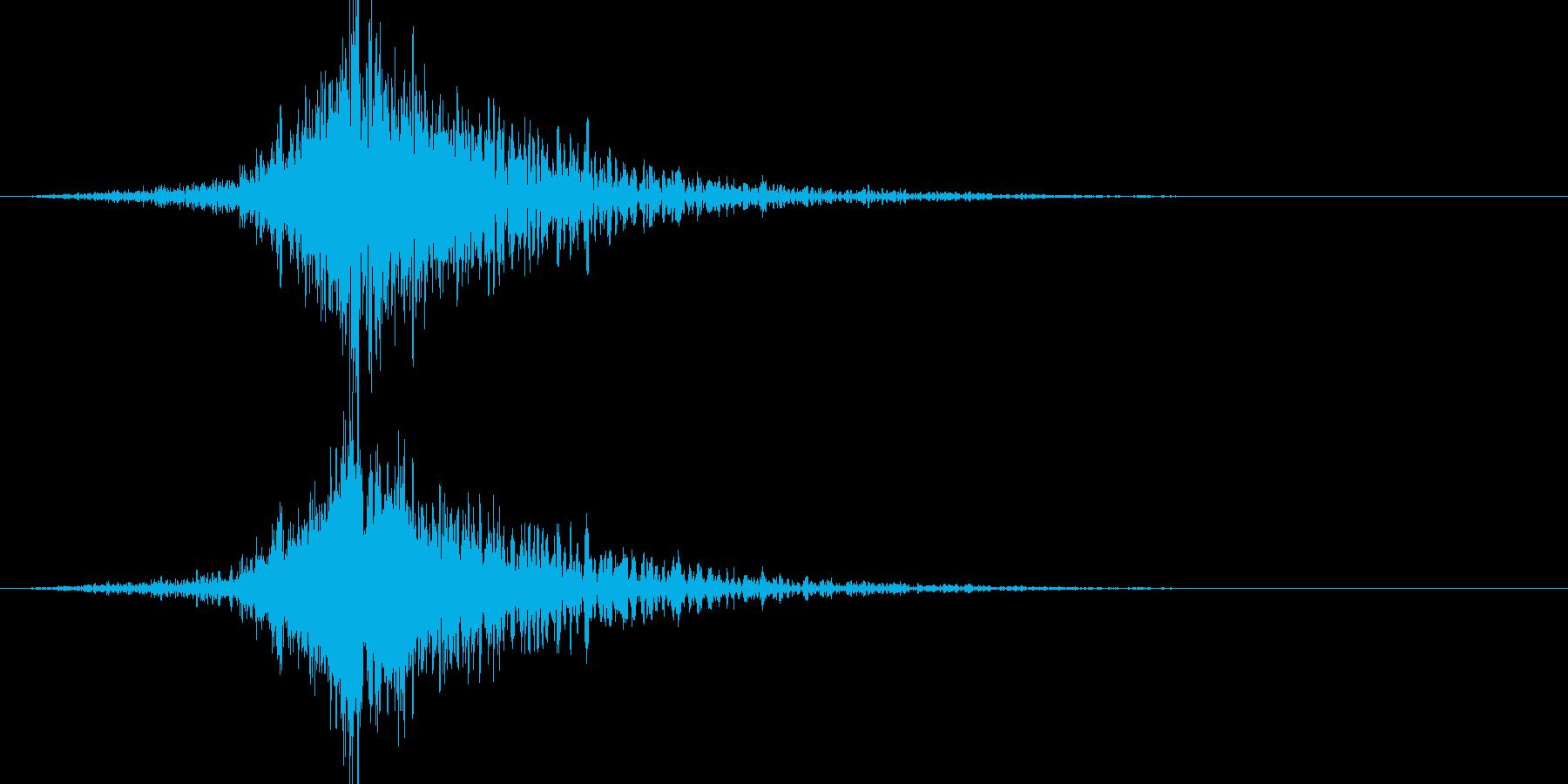 バーン:オープニングロゴなどの締めの音2の再生済みの波形