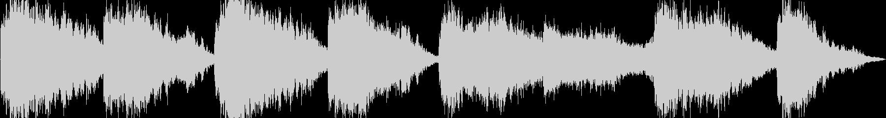 近未来的で神秘的なBGM の未再生の波形