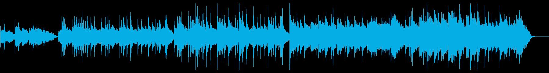 ストリングスとピアノの叙情的なサウンドの再生済みの波形