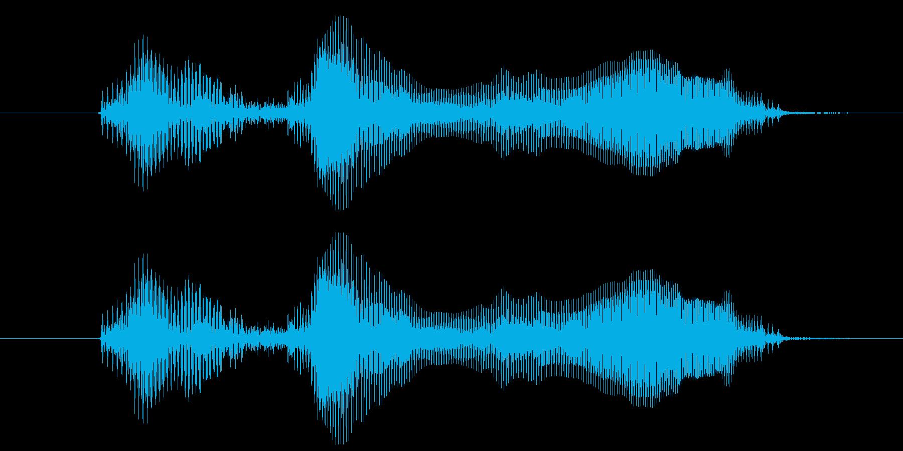 おはようの再生済みの波形