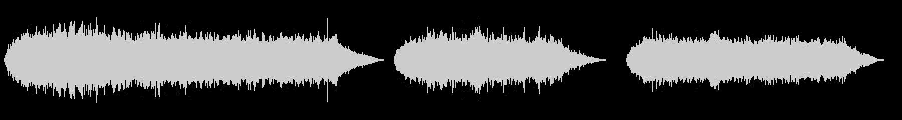 ジグソーランニングx3の未再生の波形