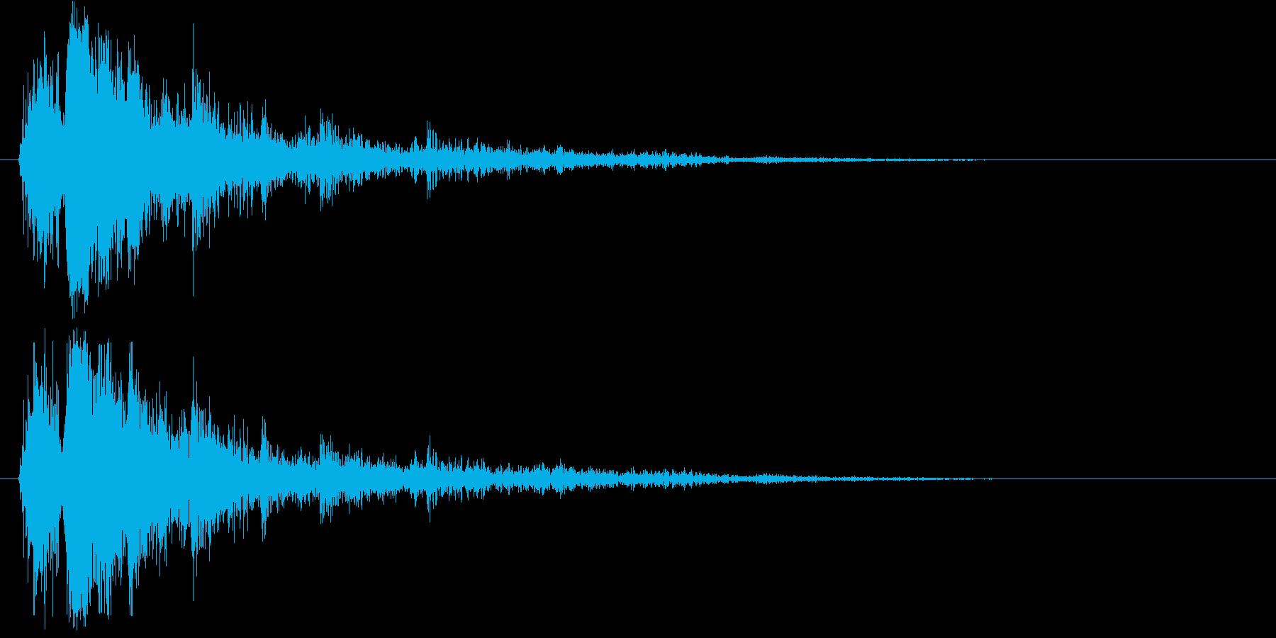 サンダークラップ1-ヘビークラック...の再生済みの波形