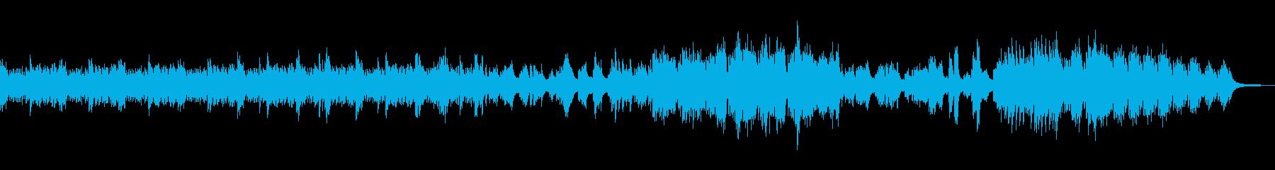 静かで感動的なピアノソロの再生済みの波形