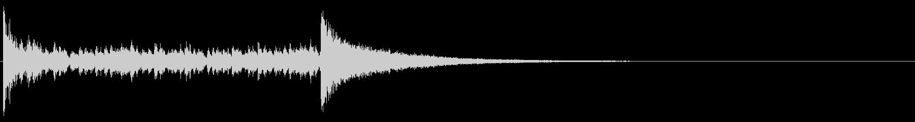 ドラムロール_3秒の未再生の波形