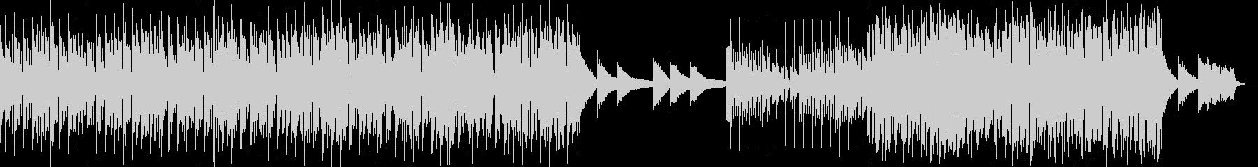 クラップとピアノの刻みがある軽快なハウスの未再生の波形