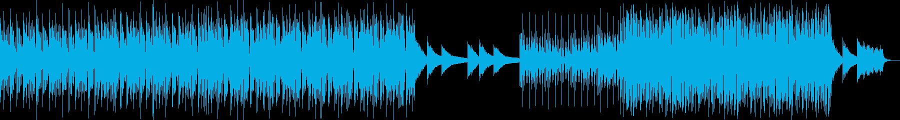 クラップとピアノの刻みがある軽快なハウスの再生済みの波形