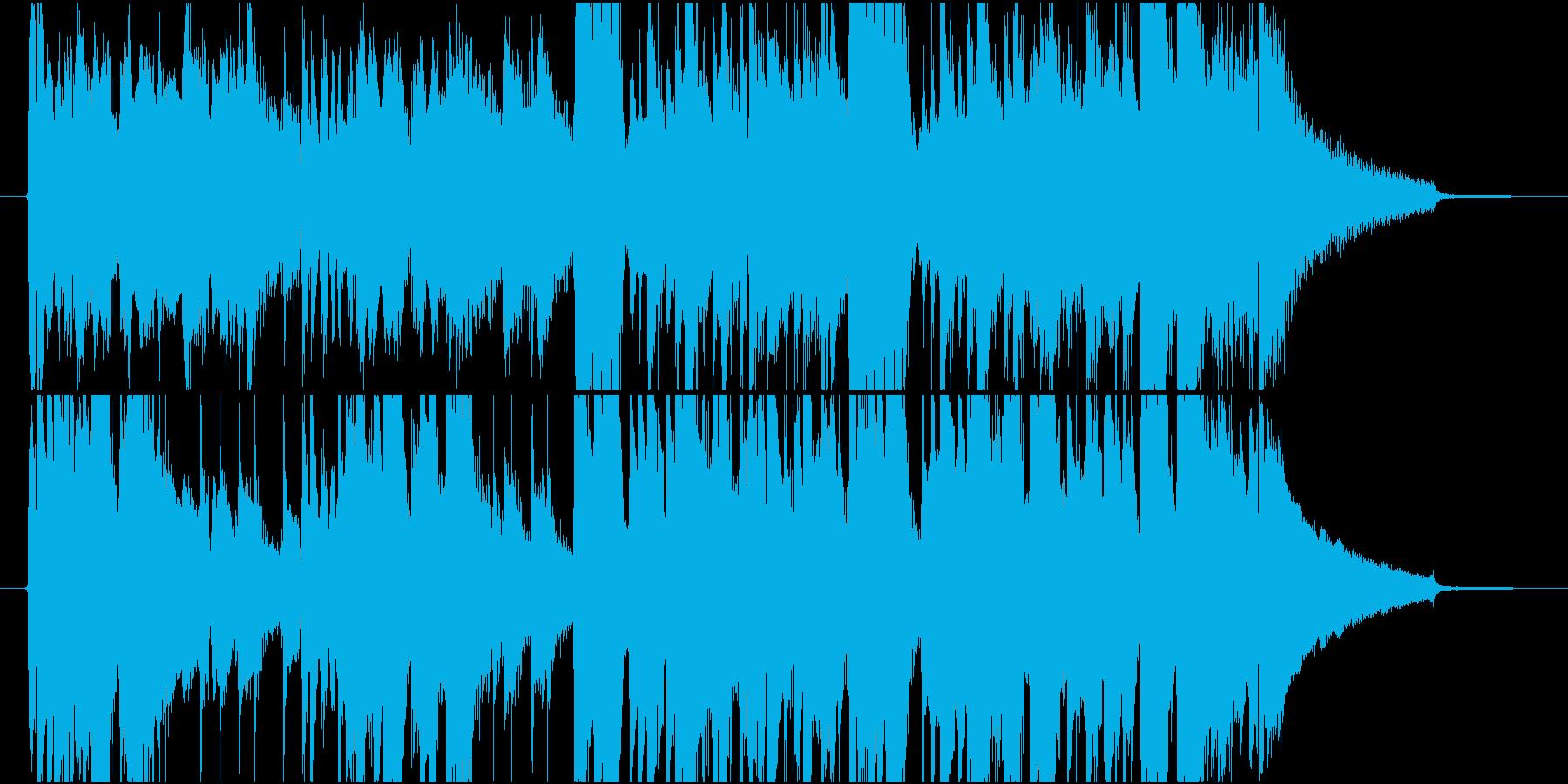 情熱的なラテン曲(キューバ系)の再生済みの波形