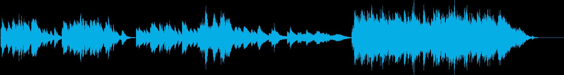 振り返る陽炎のピアノの再生済みの波形