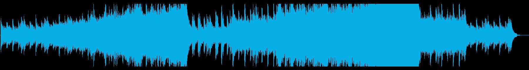 シネマ、感動的なピアノとストリングスの再生済みの波形