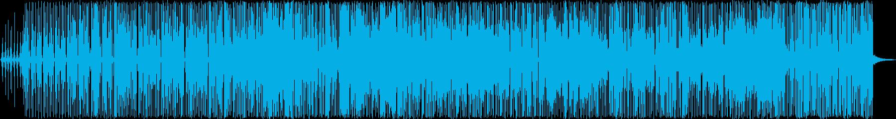太いシンセベースがかっこいいファンクの再生済みの波形